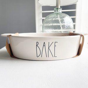 """✨ NWT """"Bake"""" Baking Dish & Serving Spoon   Rae Dunn"""